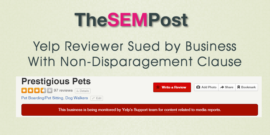 yelp lawsuit disparagement