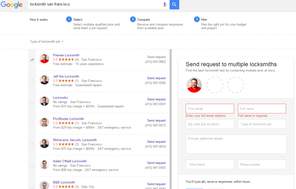 adwords home service ads request2