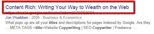copywriter title example