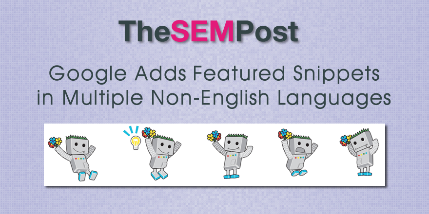 featured snippets language