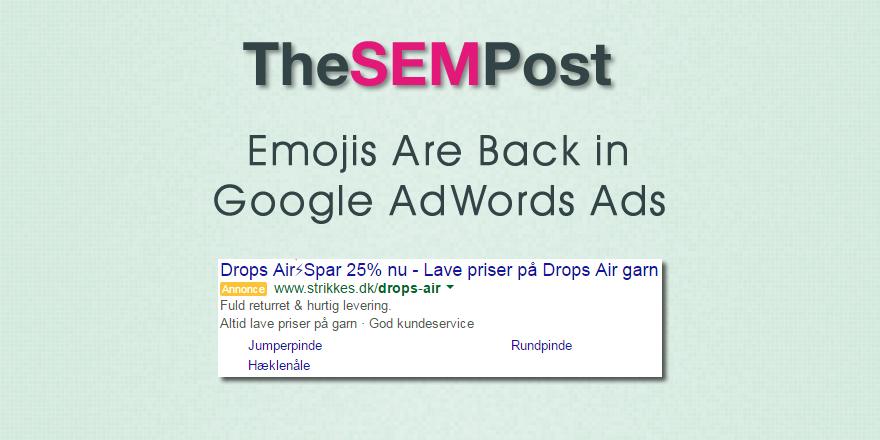 google adwords emojis