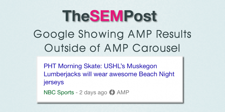 google amp non carousel results