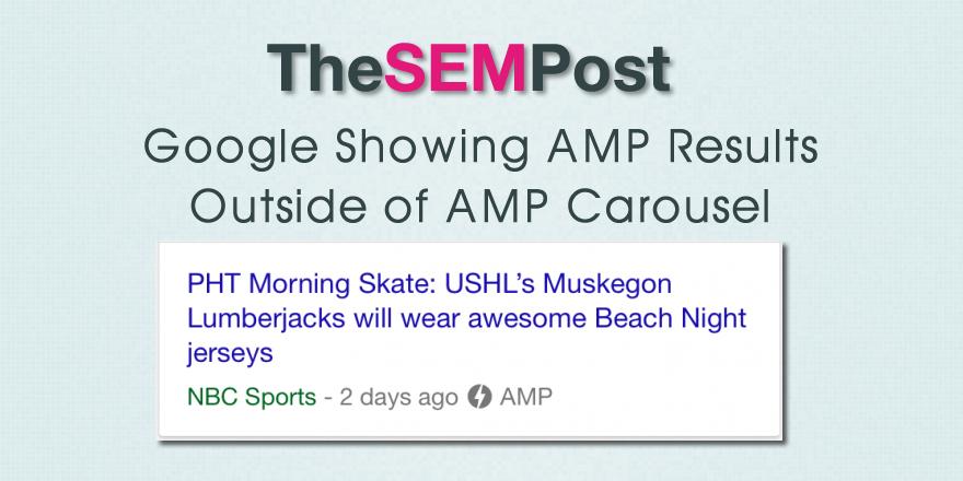google amp non carousel results