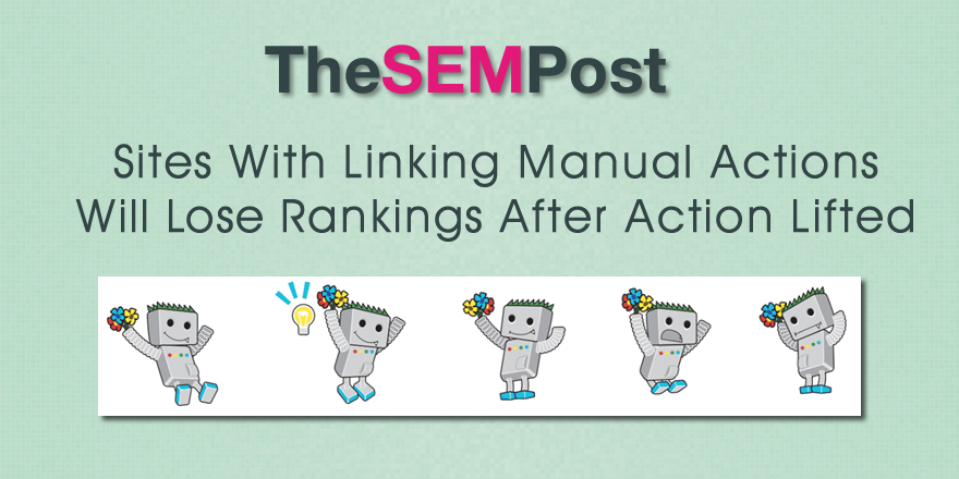 google link manual action rankings