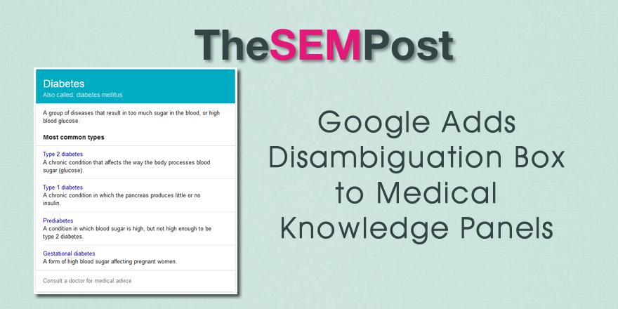 google medical disambiguation