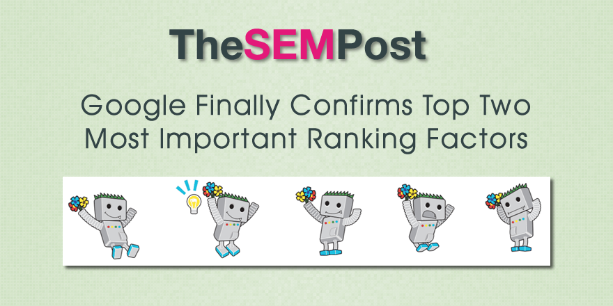 top two google ranking factors