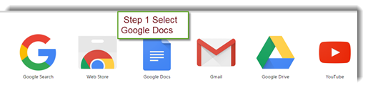 Step 1 - Log in and get Google docs