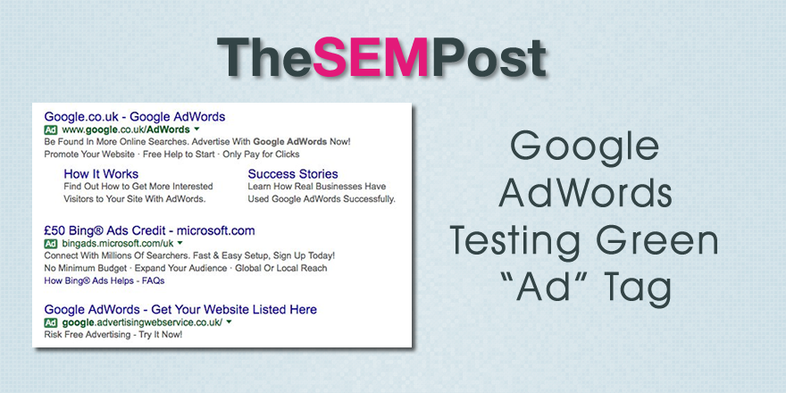 adwords green ad tag