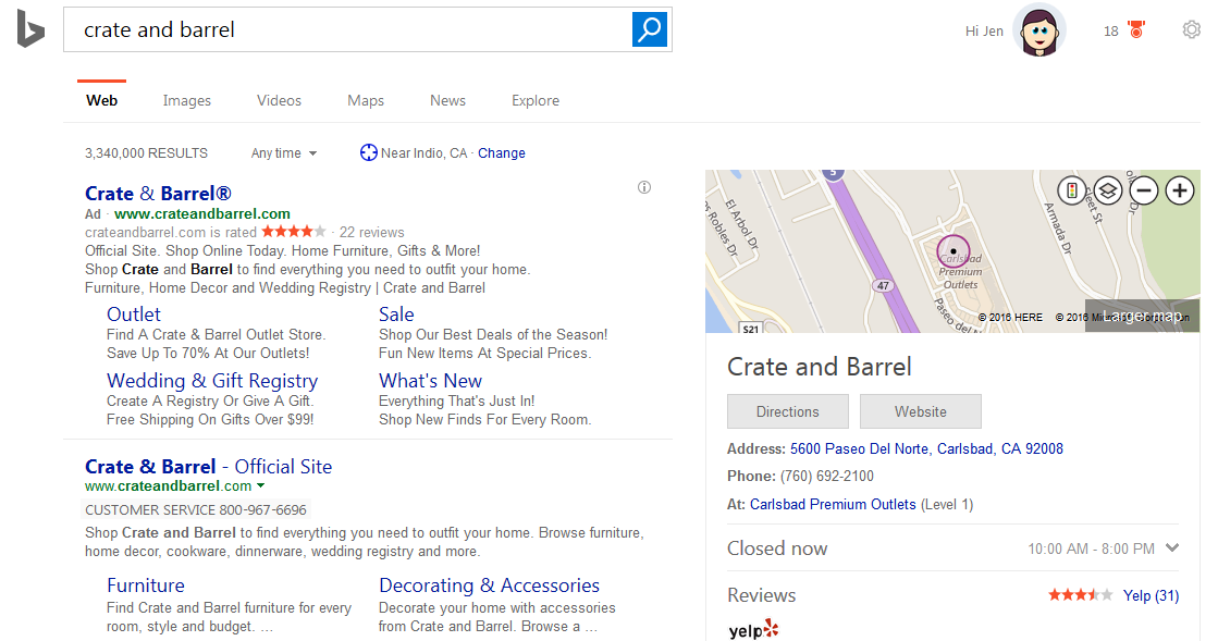 Bing Ads Testing High Contrast Bolding of Keywords in Search Results