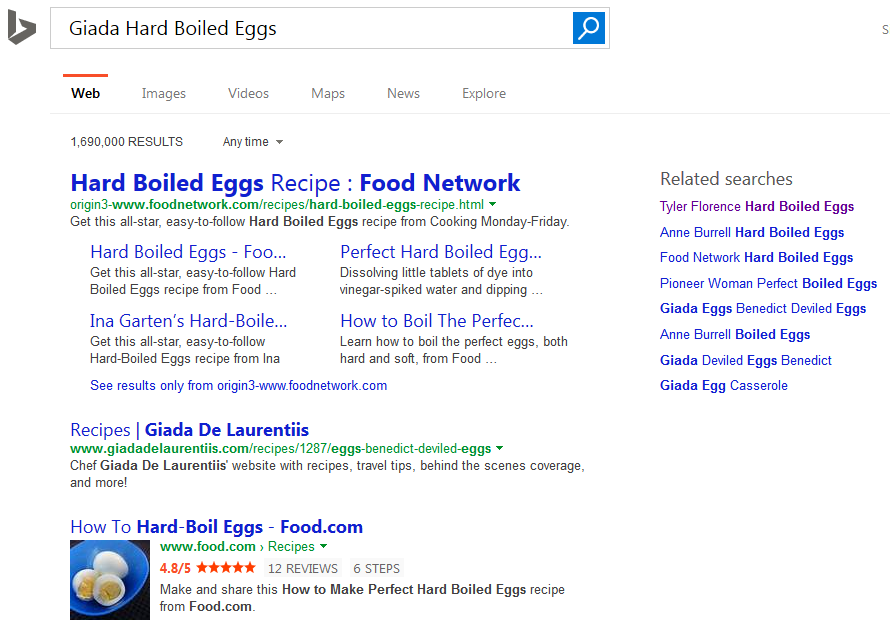 Bing Testing Huge Oversized Text for First Result Title