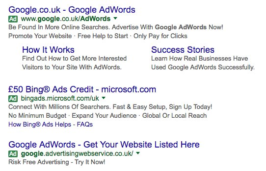 google adwords green tag