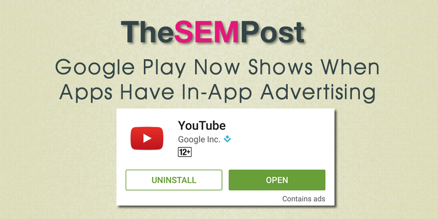 Google Play Now Showing When Apps Contain Ads