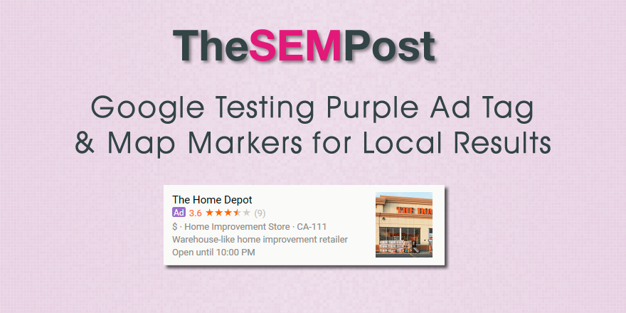 google purple ad tag local