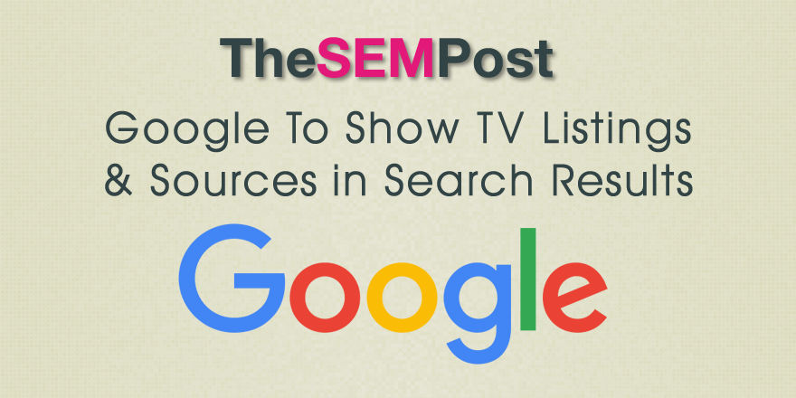 google tv listings