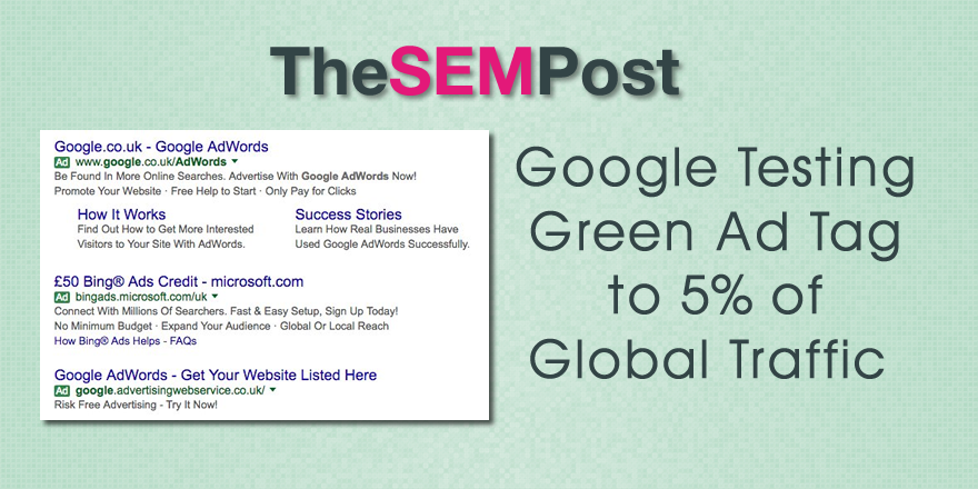 green adwords tag test