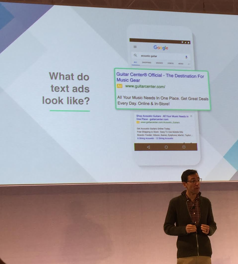 how to get more text in adwords