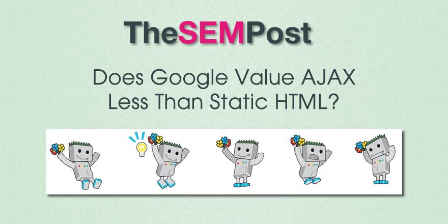google ajax value less