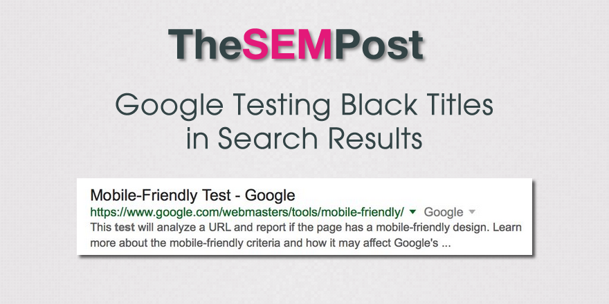 google black titles serps