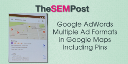 Google AdWords Multiple Ad Formats in Google Maps, Including Pins