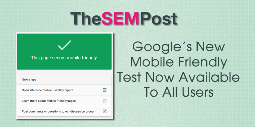 google mobile friendly test new