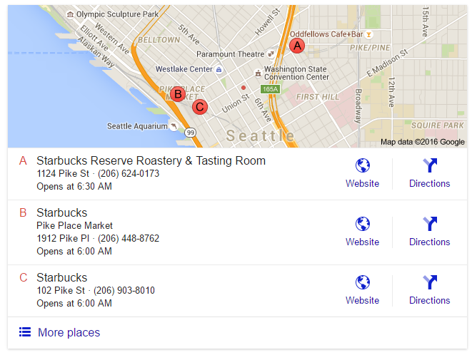 google search results map pack width new 2