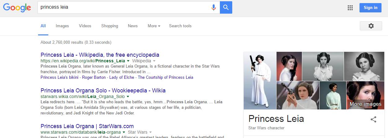 google search results new width incognito