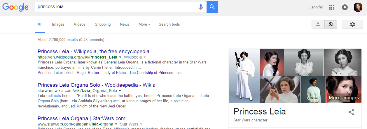 google search results new width signed in