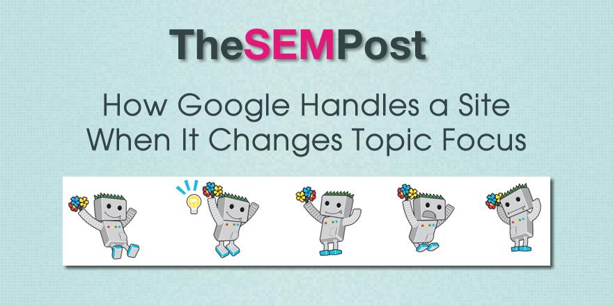 google topic area change
