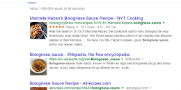 Google Adds Thumbnails to Food Related Wikipedia Results