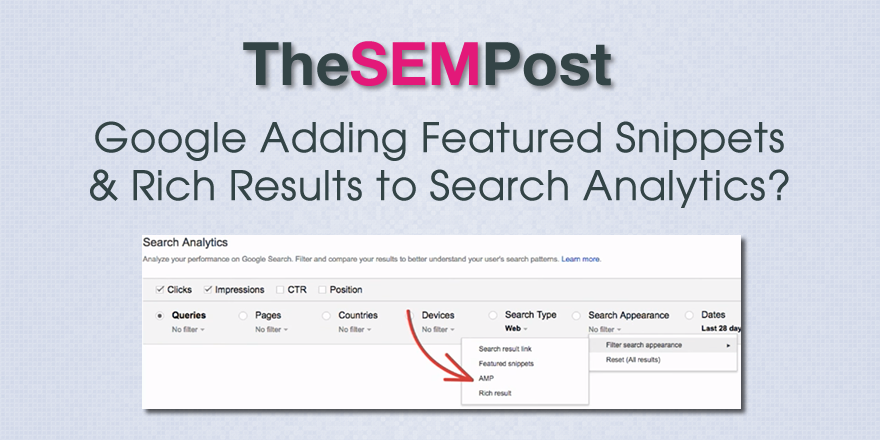 gsc featured snippets rich results analytics