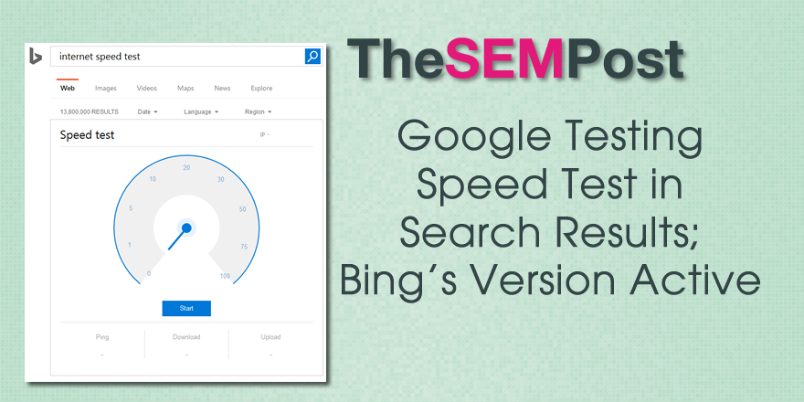 google bing speed test