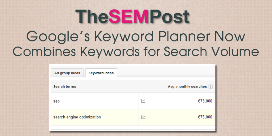 keyword planner search variants