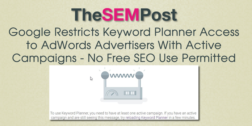 keyword planner seo access