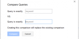 Google's Search Analytics Adds Keyword Comparisons Report