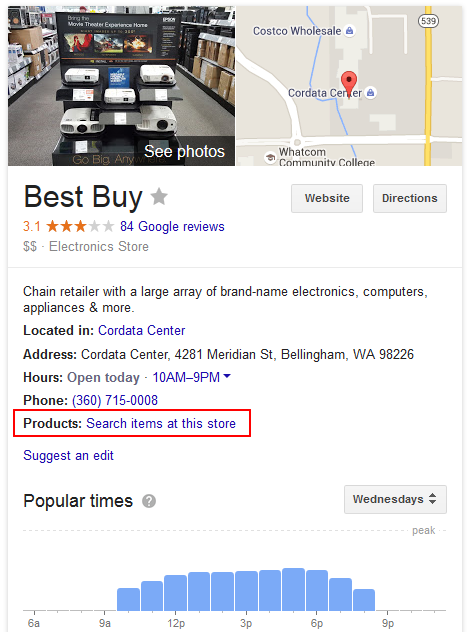 google knowledge panel shopping 2