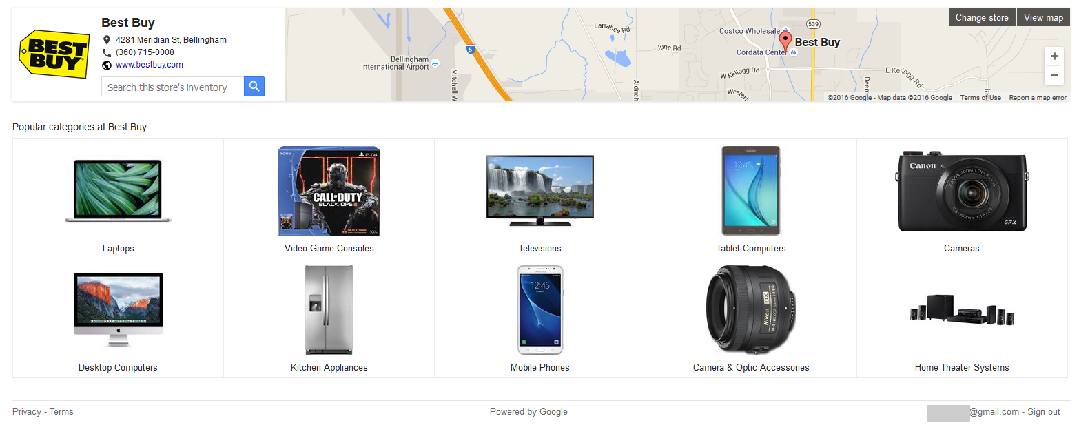google knowledge panel shopping 3