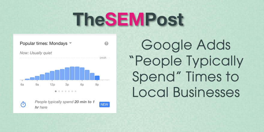 google local spend time