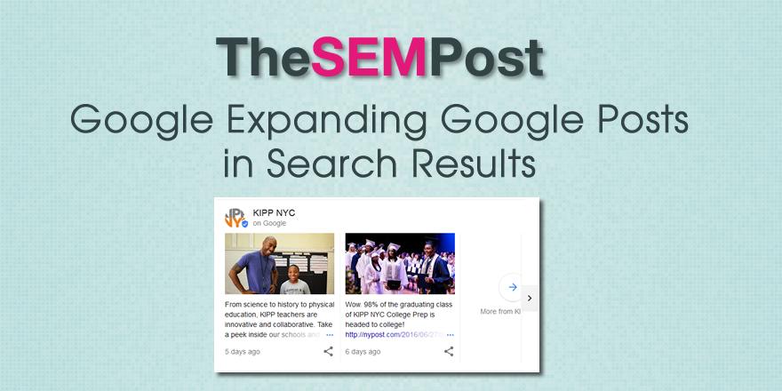 google posts expanding