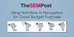 Using Nofollow on Navigation for Crawl Budget Reasons