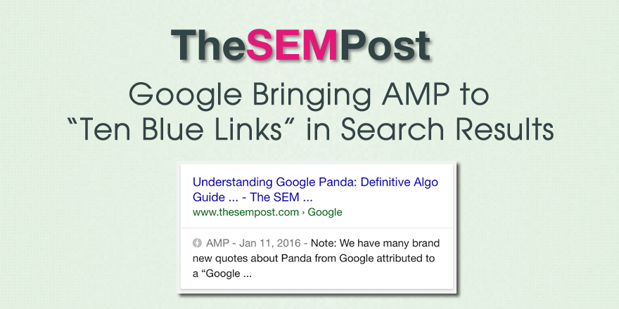 amp google ten blue links
