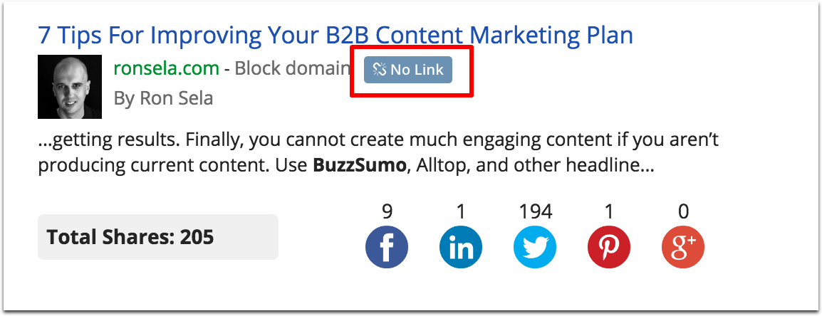 BuzzSumo link alerts