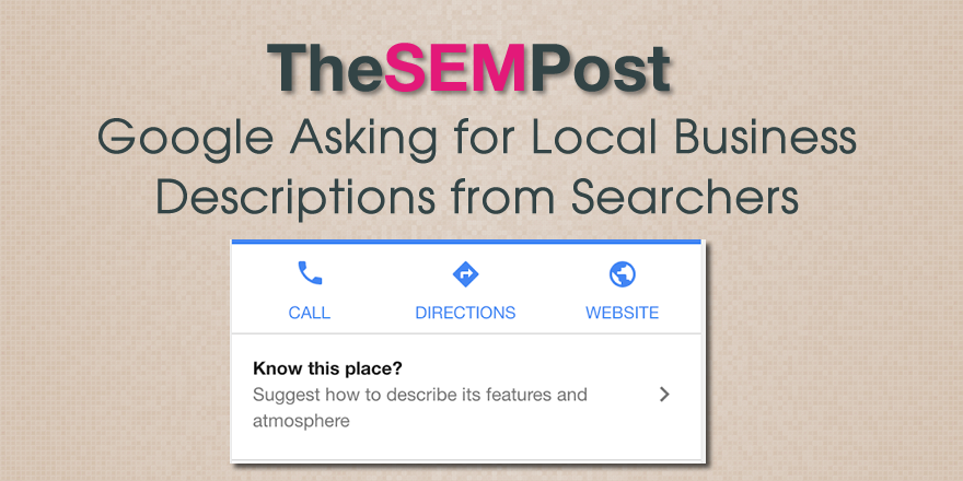 google local descriptions