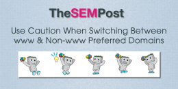 Use Caution When Switching Between www & Non-www Preferred Domains