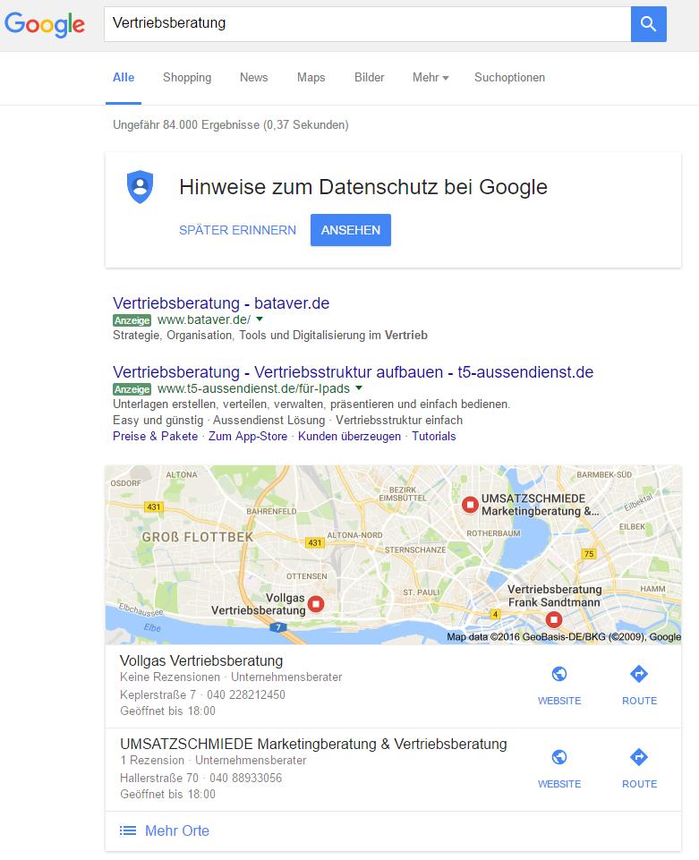 google local 2pack 1