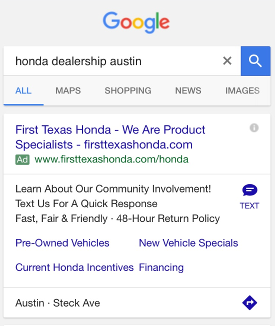 click-to-text-adwords
