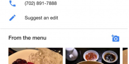 "Google Showing ""From the Menu"" Photos, Adds Photo Uploads for Local Restaurants"