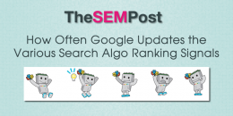 How Often Google Updates the Various Search Algo Ranking Signals