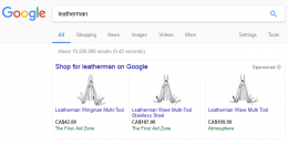 Google AdWords Testing 3 Product PLAs at Top of Search Results