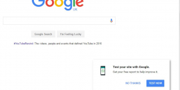 "Google Adds ""Test Your Site With Google"" to Google Homepage"
