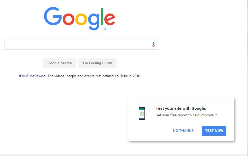 google-test-site-homepage